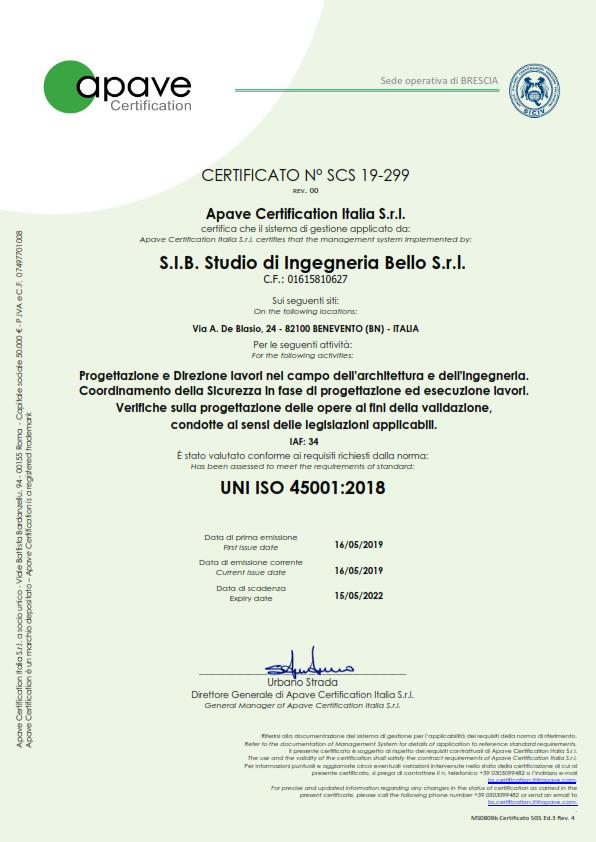 certificato ISO 45001 - sicurezza_001